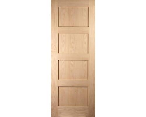 Shaker 4 Panel Oak Internal Doors