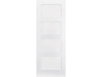 White Shaker 4 Panel Image