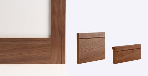 Deanta Walnut Door Lining - Prefinished