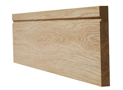 LPD Oak Faced Single Groove Skirting