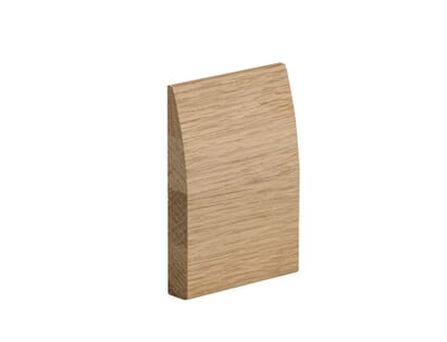 XL Oak Skirting Set - Modern Profile - Prefinished