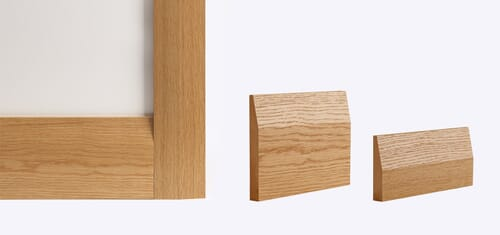 Deanta Oak Half Splayed Skirting - Prefinished