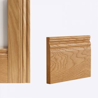 Deanta Oak Traditional Skirting - Prefinished