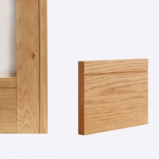 Deanta Oak Shaker Skirting - Prefinished