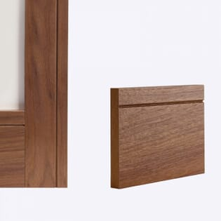 Deanta Walnut Shaker Skirting - Prefinished