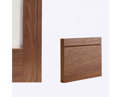 Walnut Shaker Door Lining Skirting & Architrave