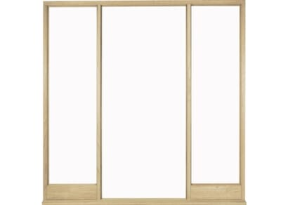 External Solid Oak Vestibule Frame for Direct Glazing