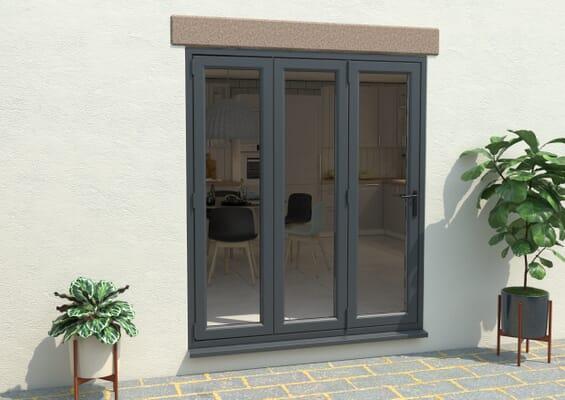 Grey / White 1800mm UPVC Bi-Fold Door OPEN OUT 3L