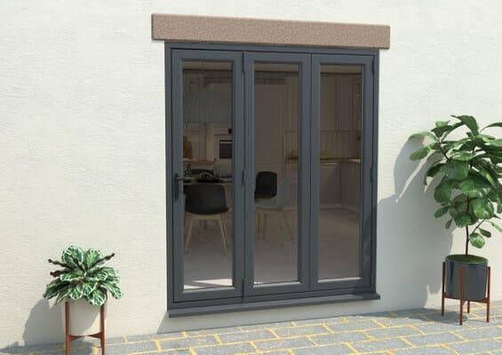 Grey / White 1800mm UPVC Bi-Fold Door OPEN OUT 3R