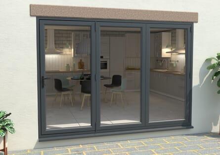 Climadoor UPVC Bifold Doors - Grey / White Part Q Compliant