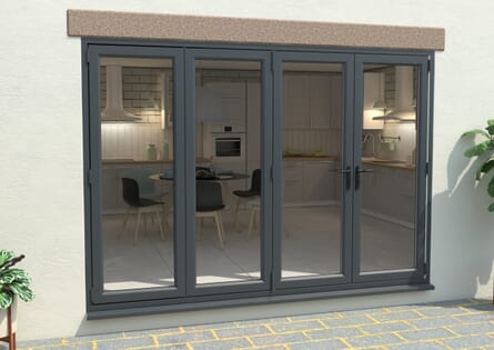 Climadoor UPVC Bifold Doors - Grey / White Part Q Compliant