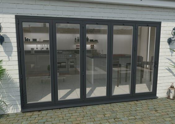 Part Q 3600mm Grey Aluminium Bifold Doors - 5 Left