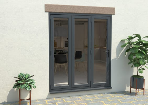 Grey 1800mm UPVC Bi-Fold Door OPEN OUT 3L