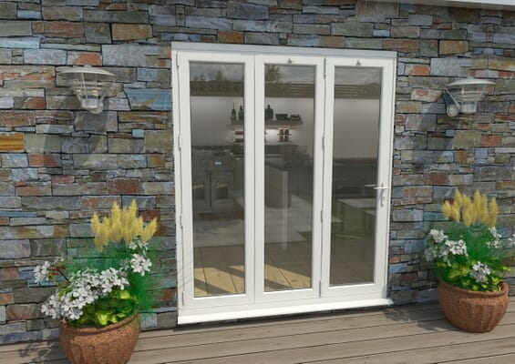 1800mm White Aluminium Bifold Doors - 3 Left