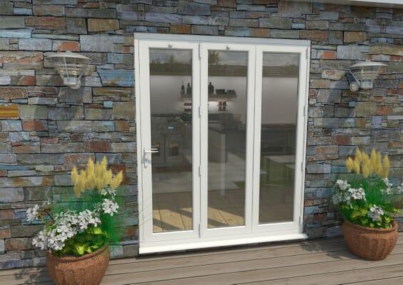 1800mm White Aluminium Bifold Doors - 3 Right