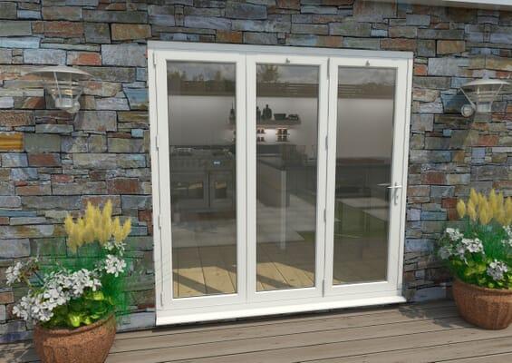 Part Q 2100mm White Aluminium Bifold Doors - 3 Left