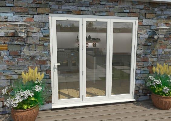 2100mm White Aluminium Bifold Doors - 3 Right