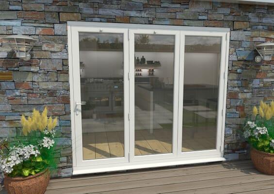 Part Q 2400mm White Aluminium Bifold Doors - 3 Right