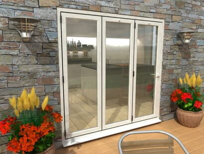 Climadoor White Aluminium Bi-folding Patio Doors  Image