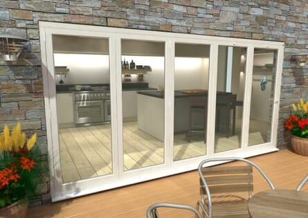 CLIMADOOR White Aluminium Bi-folding Patio Doors