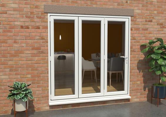 White 2100mm UPVC Bi-Fold Door OPEN OUT 3L