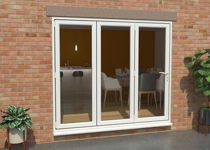 Climadoor UPVC Bifold Doors - White Part Q Compliant