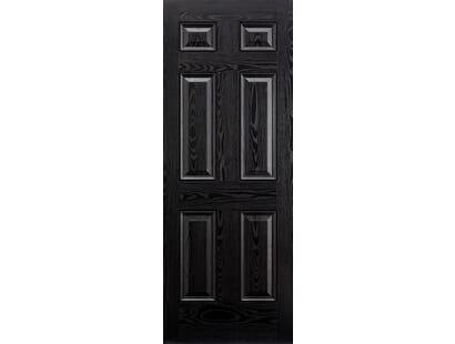 Colonial 6p Black Composite Door Image