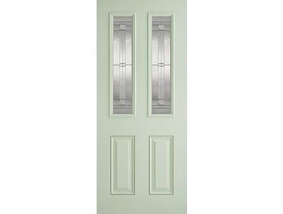 Malton Green Glazed Composite Door Image