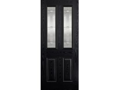 Malton Black Glazed Composite Door Image
