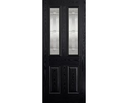 Malton Black Glazed Composite External Doors