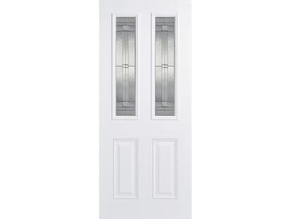 Malton White Glazed Composite Door Image