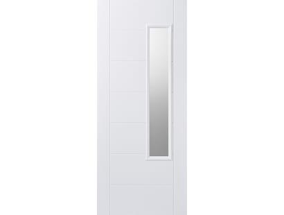 Newbury White Glazed Composite Door Image