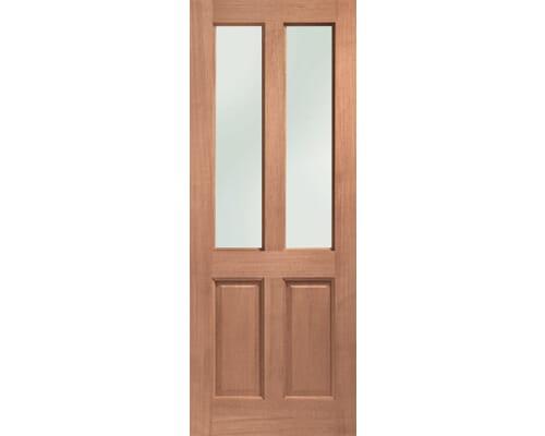 Malton Obscure Double Glazed Dowelled Hardwood External Doors