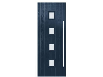 Milton Blue Composite Door Set Image