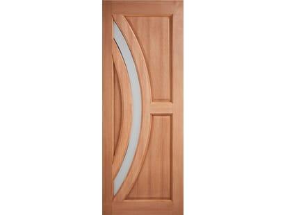 Hardwood Harrow Frosted Glazed External Door Image