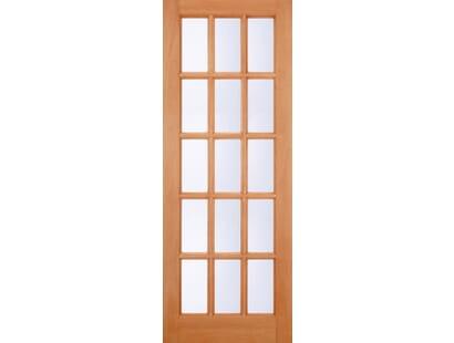 Hardwood Sa 15l Glazed Clear External Door Image