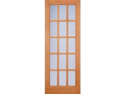 Hardwood Sa 15l Glazed Frosted External Door Image