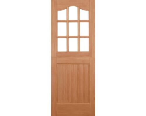 Stable M&t 9l Double Glazed Clear Glass Hardwood External Doors