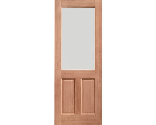 2xg Clear Glass Double Glazed Dowelled Hardwood External Doors