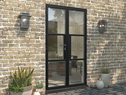 Climadoor Black Heritage Style Aluminium French Doors Image