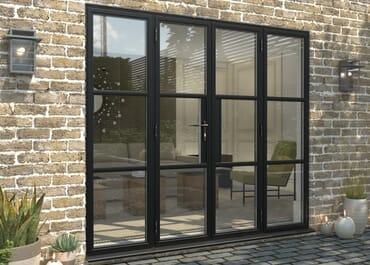 Climadoor Black Heritage Style Aluminium French Doors