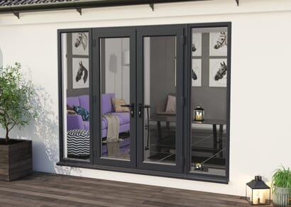 Climadoor UPVC French Doors - Grey Out / White In Part Q Compliant