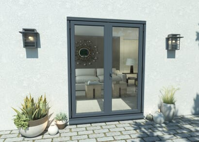 Climadoor Grey Aluminium French Doors