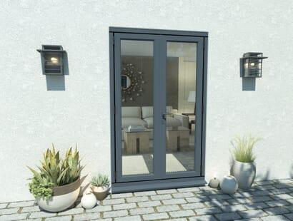 Climadoor Grey Aluminium French Doors Image
