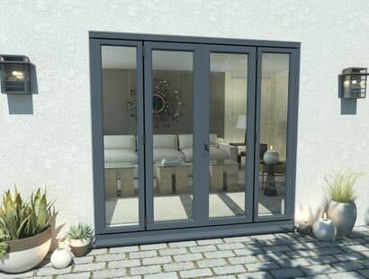 Climadoor Grey Aluminium French Doors - Part Q Compliant Image