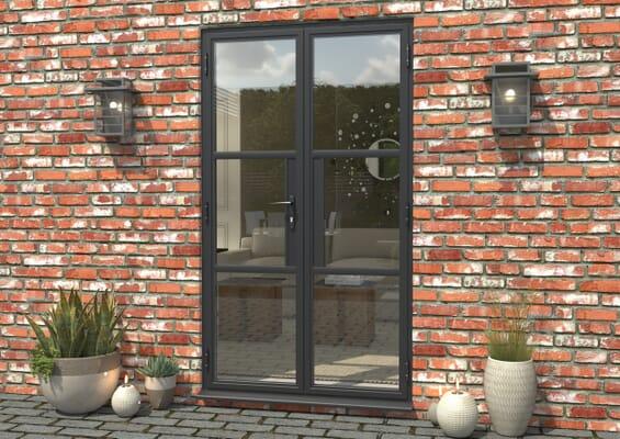 1200mm Grey Heritage Aluminium French Doors