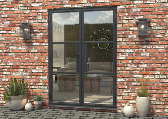 1500mm Grey Heritage Aluminium French Doors