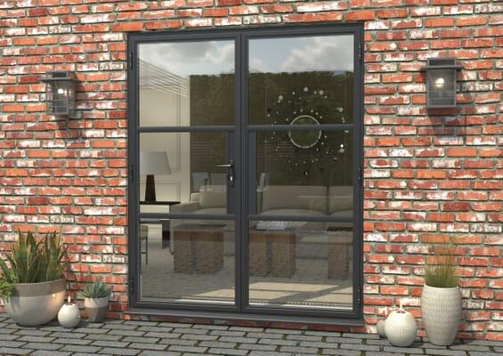 1800mm Grey Heritage Aluminium French Doors