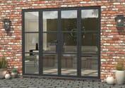 Climadoor Grey Heritage Style Aluminium French Doors Image