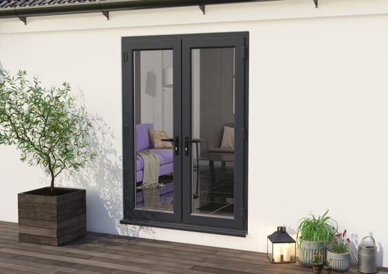 1500mm Part Q Anthracite Grey UPVC French Doors
